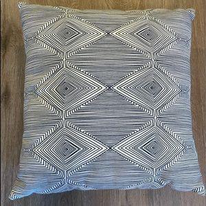 Teal square geometric throw pillow